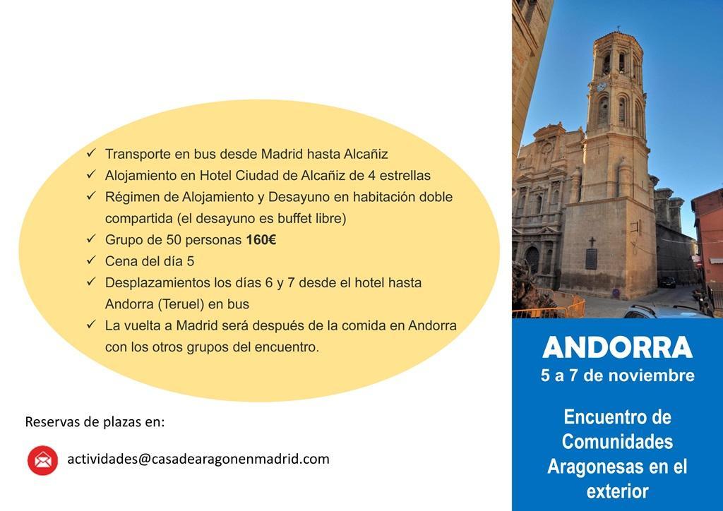 Viaje Andorra Casa de Aragón en Madrid
