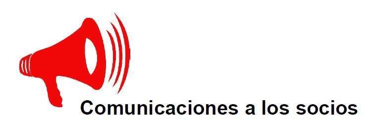 Comunicaciones a los socios